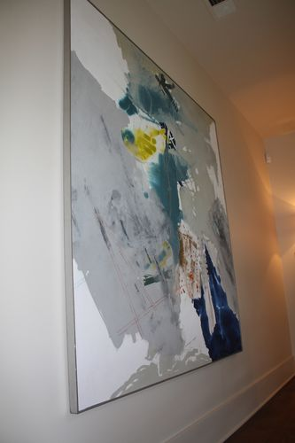 Painting in upstairs hallway