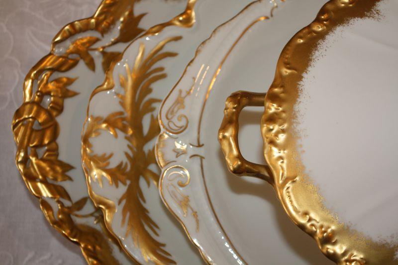 Gold platter edges