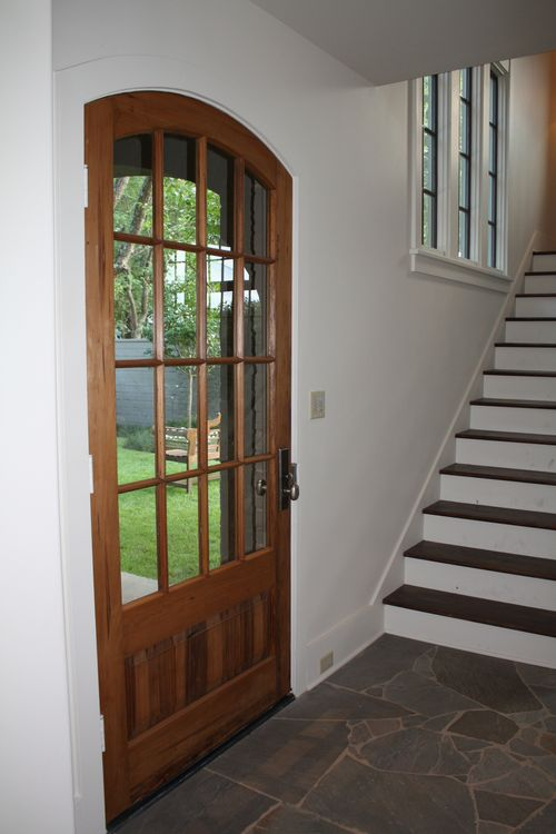 Front door on inside