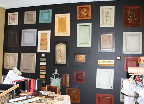 Cabinet and furniture sample finishes