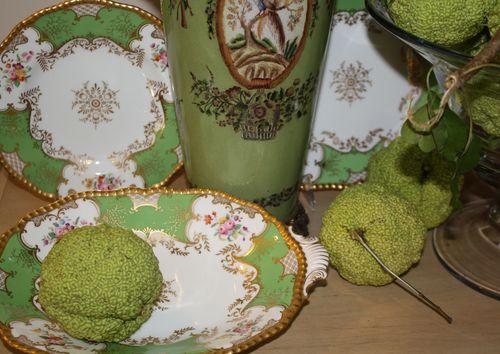 Close up green china