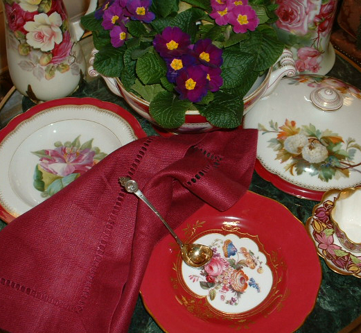 A spring primrose setting