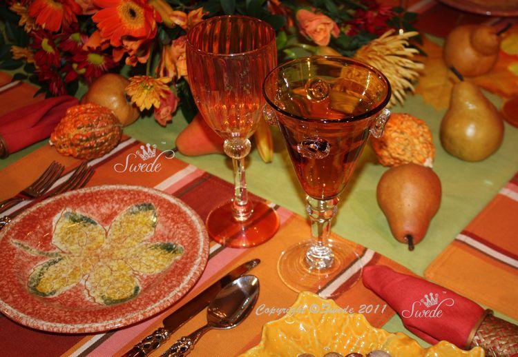 Tablescape Celebrating Autumn S Colors Swede