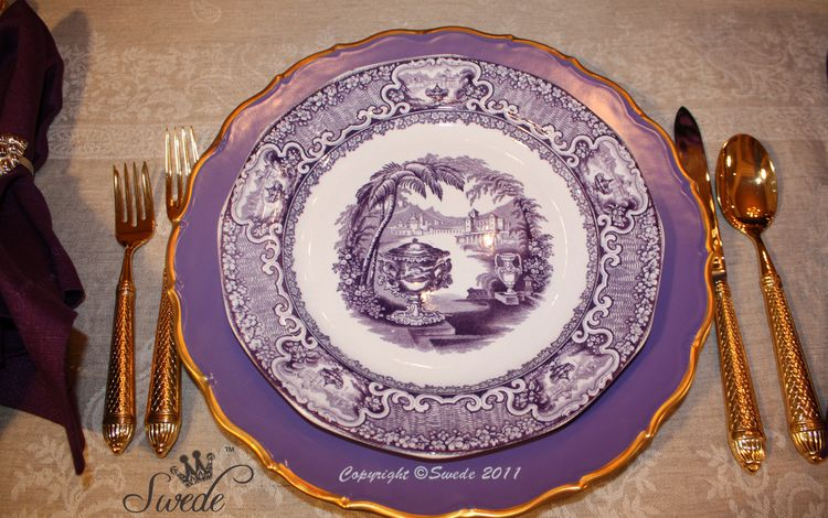 Purple transferware7728