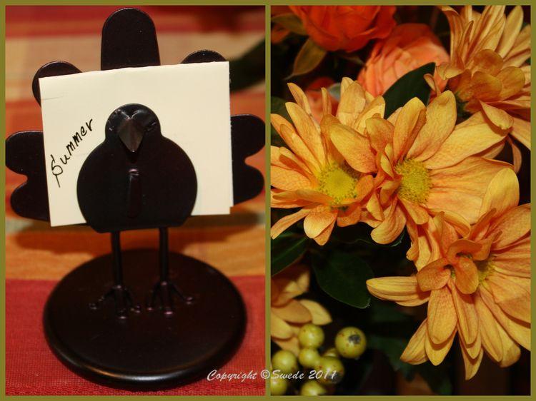 Placecard holder flower collage logo