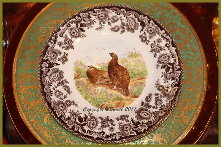 Red grouse on minton logo