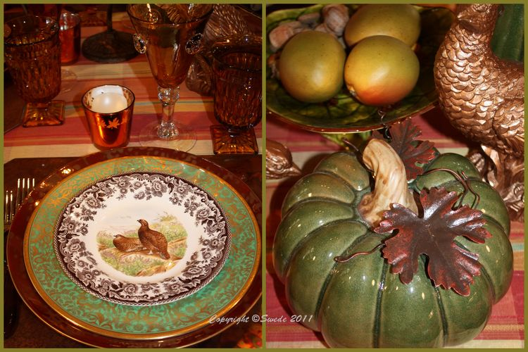 Grouse and pumpkin collage logo
