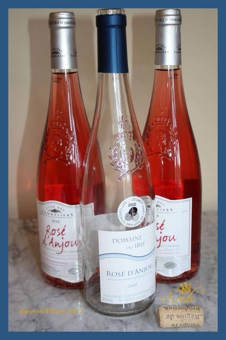 Wine bottles tall blue