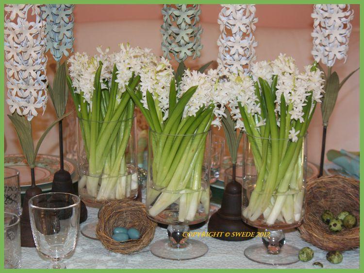 Metal hyacinths