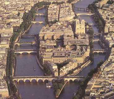 Paris birds eye view island st_louis