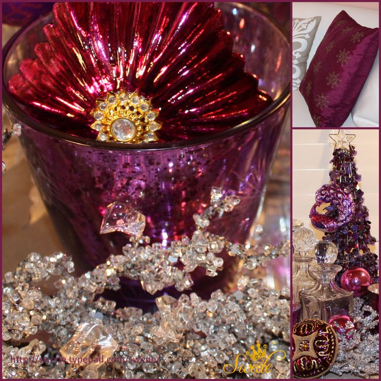 Magenta holiday collage