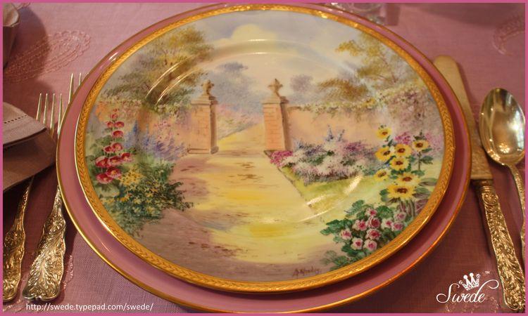 Rhodes walled garden plate lo