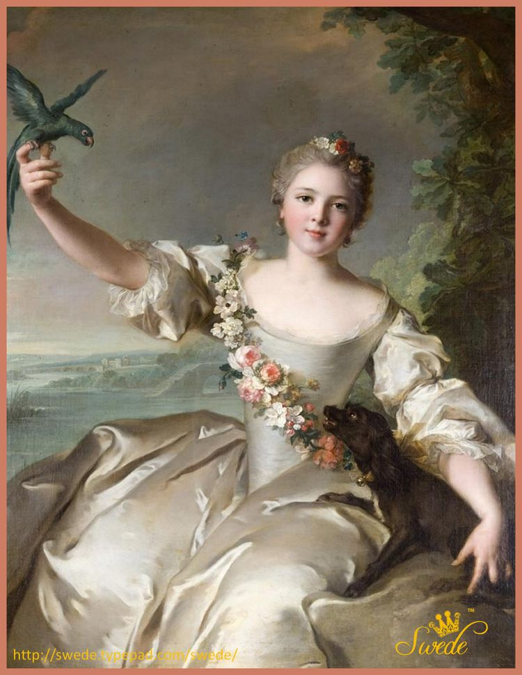 Jacquemart Andre painting girl with black dog and birdlogo
