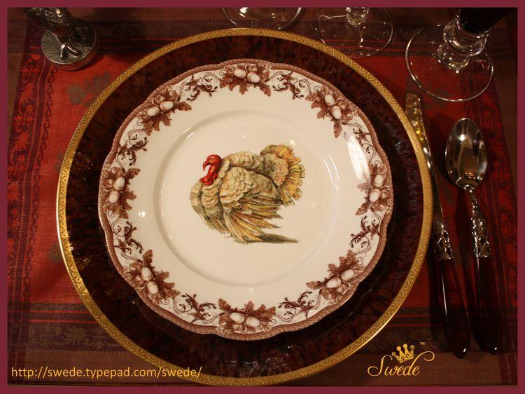 Dessert turkey plate logo