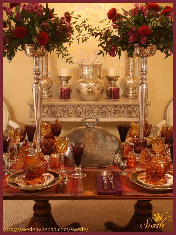 Tablescape Plum Amber Amp Russet For Thanksgiving Dinner