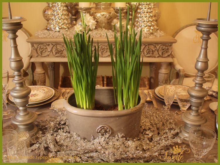 Flowers table center borlogo