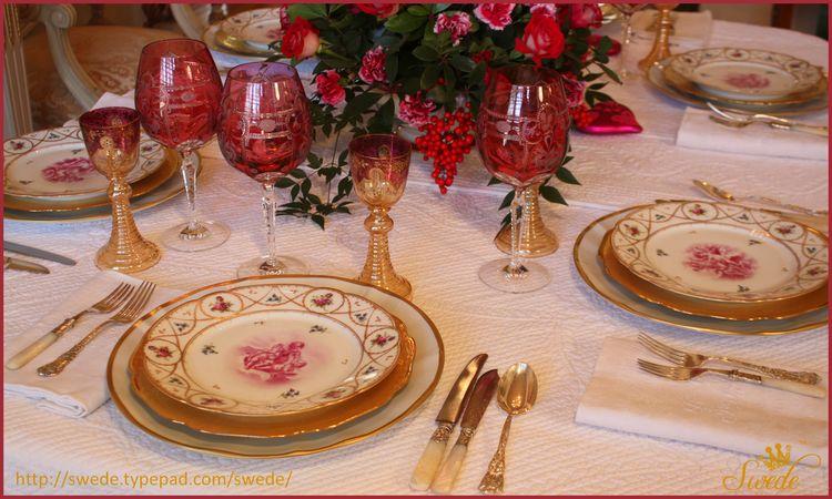 Valentine dinner table logo