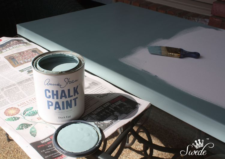Duck egg chalk paint