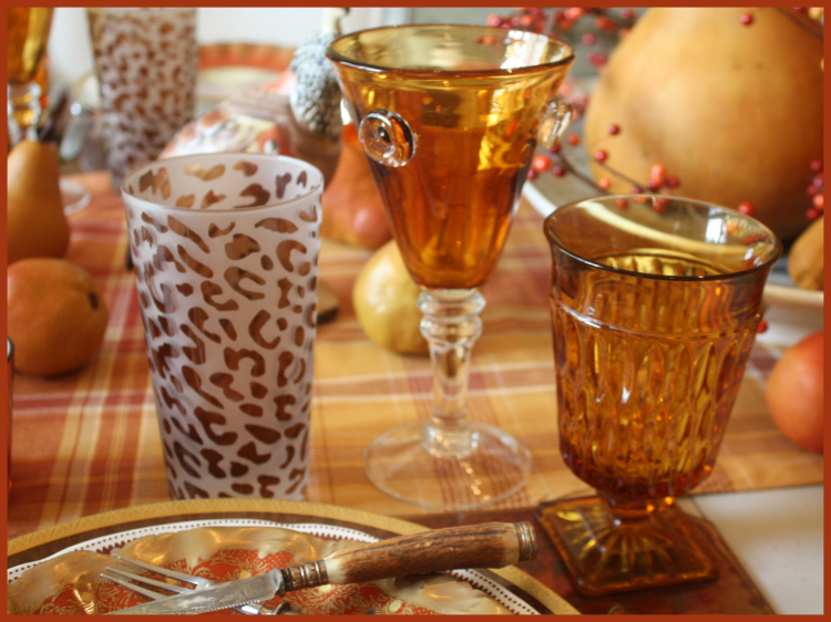 Vintage and New Amber Stemware