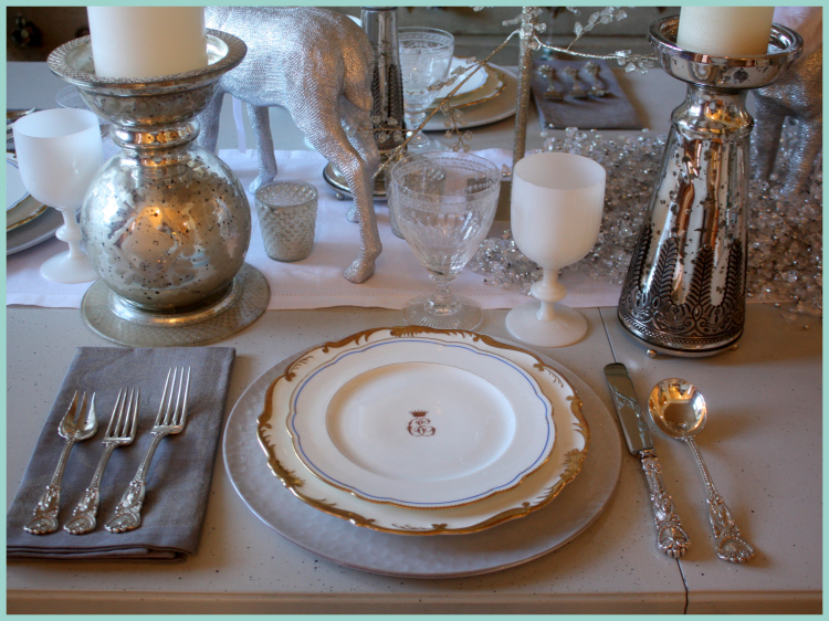 Winter dinner place setting