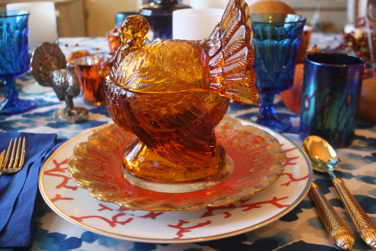 Swede Collection Tgiving 2016 Glass Turkey Gift Container