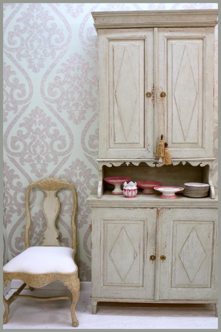 Antique Swedish Cupboard Circa 1850 $5272 Rococo Side Chair $970 Dealer Swede