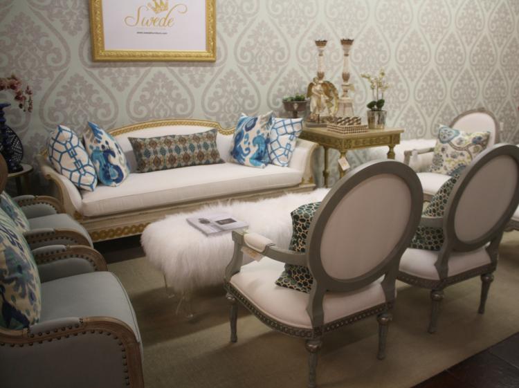 Showroom floor sofa section