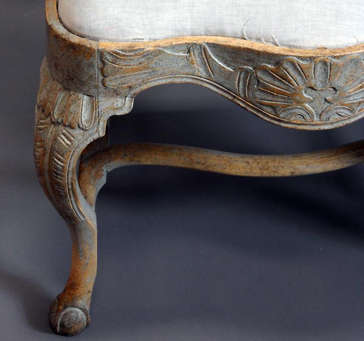 Rococo chair leg detail