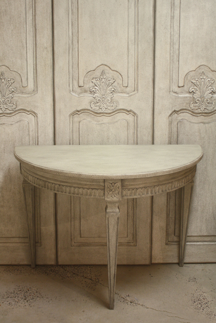 Demilune Table 44 Inches Wide 22 Inches Deep 31