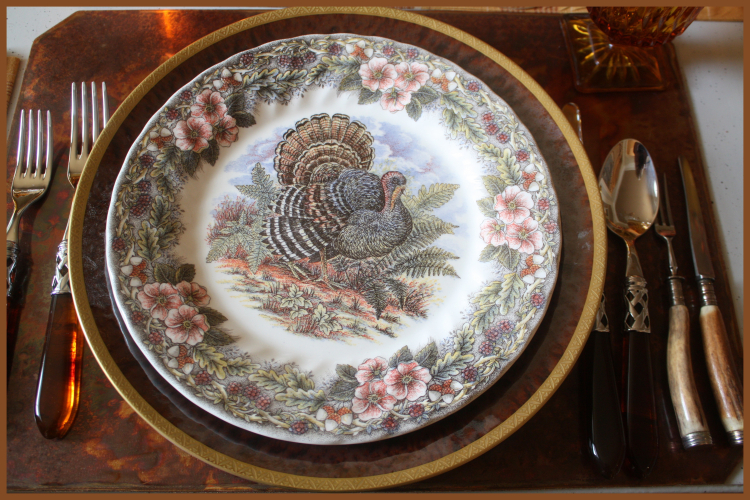 Add a Vintage Turkey Plate