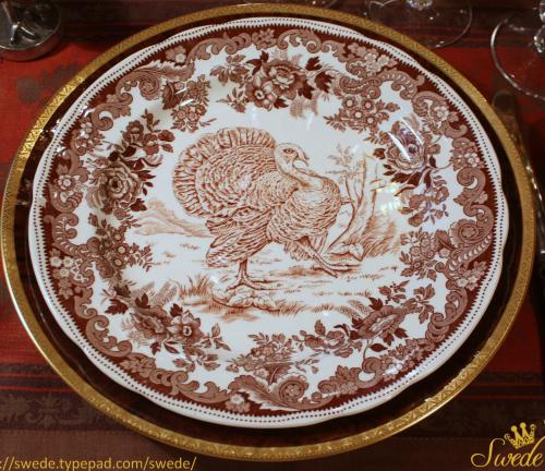 Turkey day dinner plate Copeland Spode