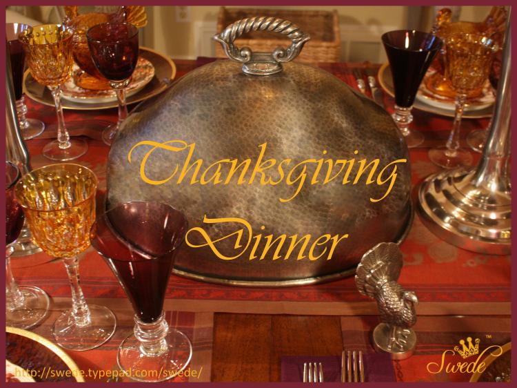 Turkey day dinner logo opening slide