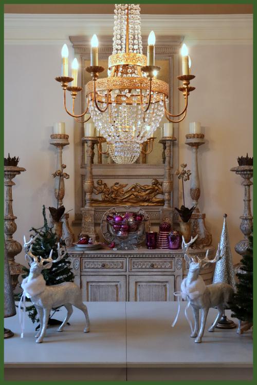 View thru chandelier
