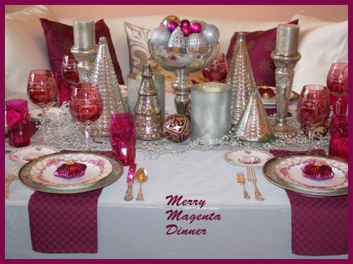 Merry magenta dinner